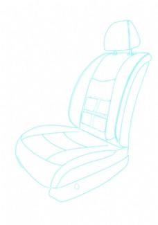 汽車座椅簡筆畫