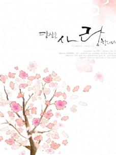 櫻花抽象背景