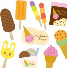 可爱卡通蛋糕冰淇淋素材