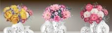 牡丹花插花花瓶无框画