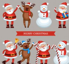 可爱圣诞角色